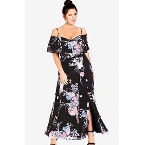 NEW City Chic Flourish Floral Maxi Dress